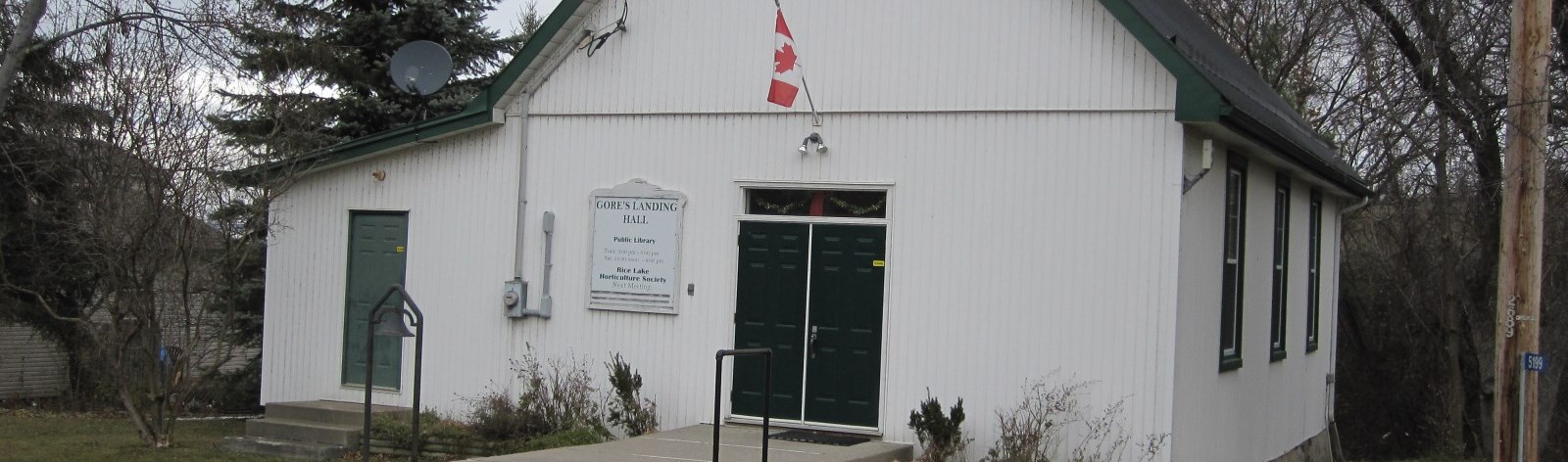 Front of the Gore's Landing Library