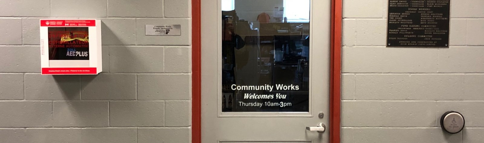 Bewdley Community Works entrance door