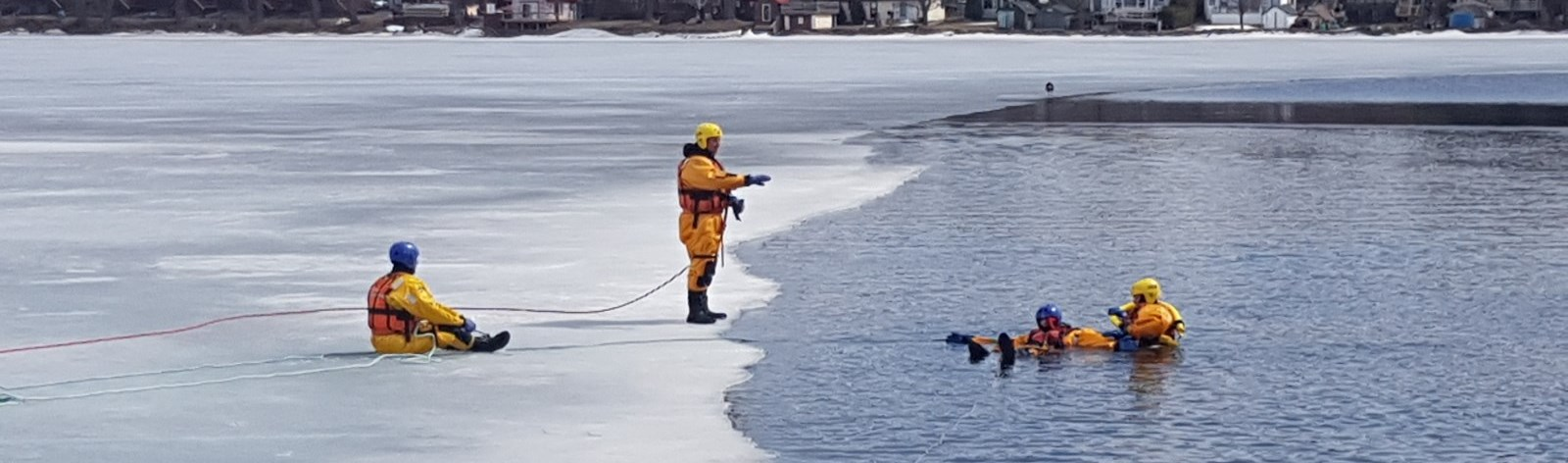 Ice Water Rescue Traning